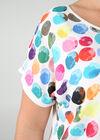 T-shirt imprimé de ronds couleurs, multicolor