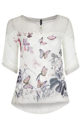 Hemd met vlinders en stras, Wit