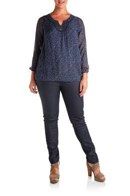 Gecoate SLIM broek Marineblauw