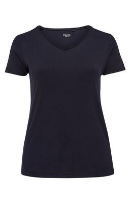 Basic T-shirt van biokatoen, Marineblauw