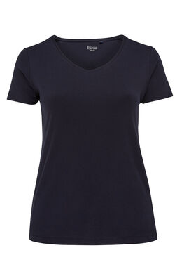T-shirt basique en coton bio, Marine