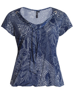 T-shirt in tricot, Blauw