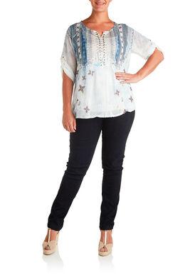 Vormgevende slim jeans met 5 zakken, Denim