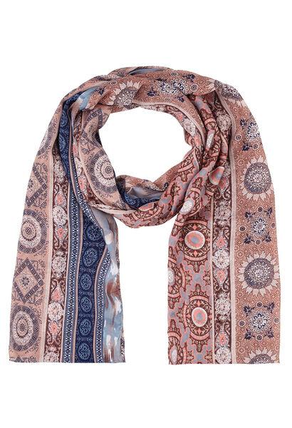 Sjaal met mozaïekprint - Roze