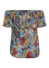 T-shirt met jungleprint, Multicolor