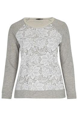Sweater met knoopwerk Gris Chine