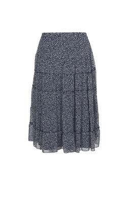 Lange rok met stippen, Marineblauw