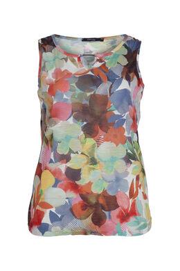 Top met bloemetjesprint, Multicolor