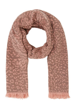 Sjaal met dierenhuidprint, Roze