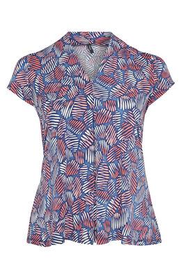 T-shirt maille froide imprimé coloré, Corail