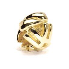 Letter Bead, W, Gold