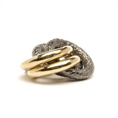 2 + 2 Bead, Silver and Gold