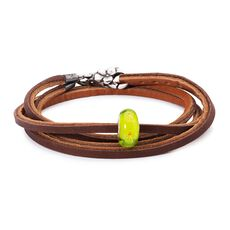 Summer Meadows Leather Bracelet, Light/Dark Brown