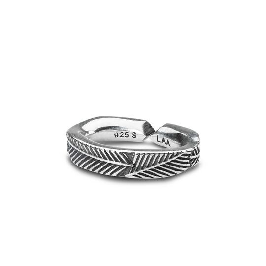Palm Leaf, Single Silver Link