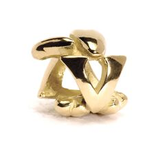 Letter Bead, V, Gold