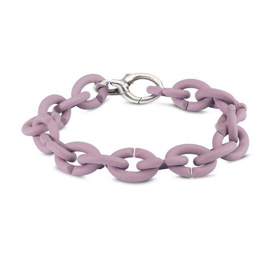 Pastel Violet Silver Bracelet