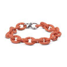 Soft Apricot Silver Bracelet