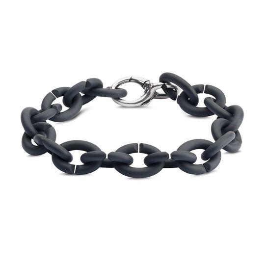 Graphite Silver Bracelet