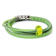 Summer Meadows Leather Bracelet, Green