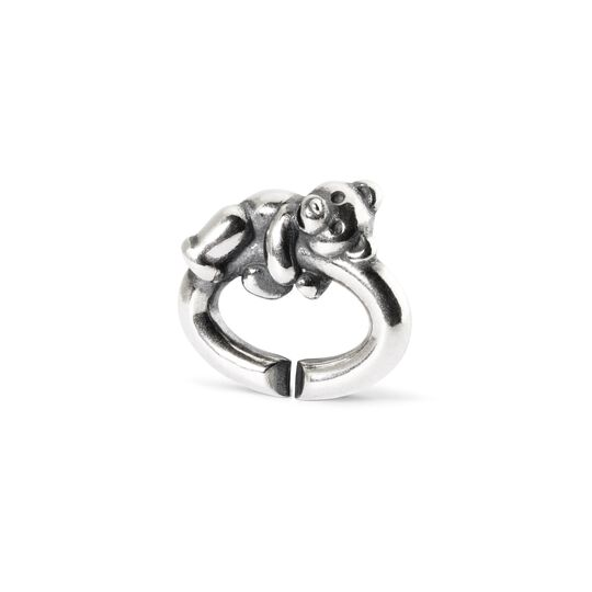 Bear, Single Silver Link