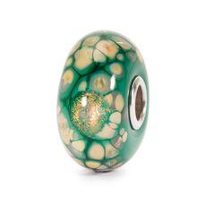 Green Flower Mosaic Bead