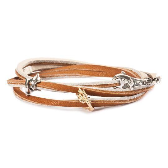 Leather Bracelet Brown/Beige