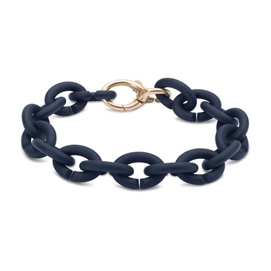 Steel Blue Bronze Bracelet