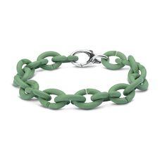 Pale Green Silver Bracelet