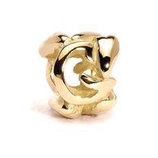Letter Bead, G, Gold