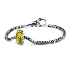 Summer Straws Silver Bracelet, Flower Lock