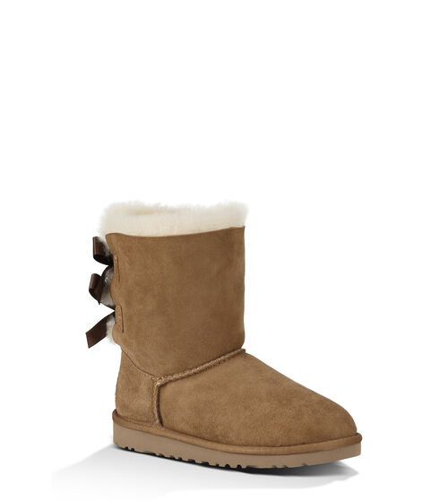 UGG Bailey Bow Kids Classic Boots Chestnut 9