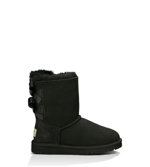 UGG Bailey Bow Kids Classic Boots Black 4