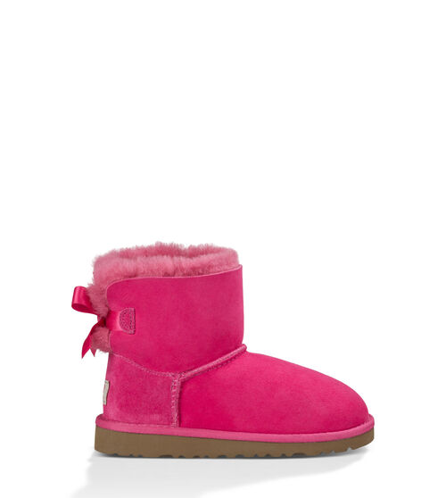 UGG Mini Bailey Bow Kids Classic Boots Cerise 11