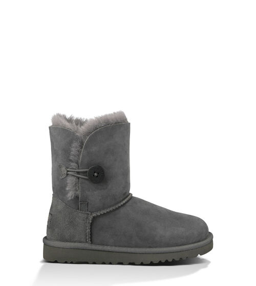 UGG Bailey Button Kids Classic Boots Grey 4