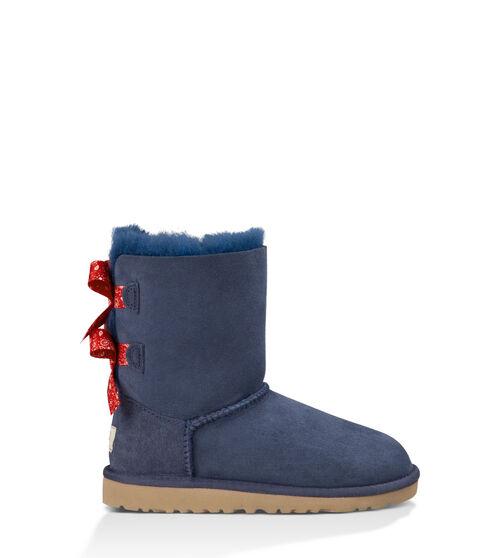 UGG Bailey Bow Bandana Kids Classic Boots Indigo 6