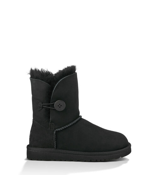 UGG Bailey Button Kids Classic Boots Black 9