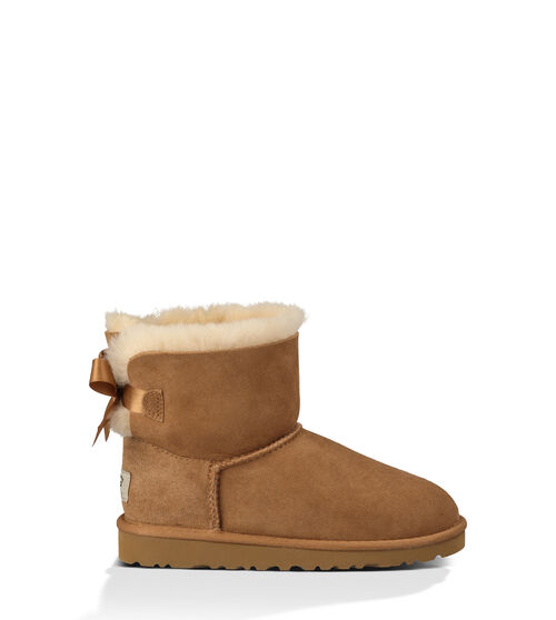 UGG Mini Bailey Bow Kids Classic Boots Chestnut 6