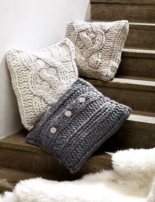 Oversized Knit Pillow 20""