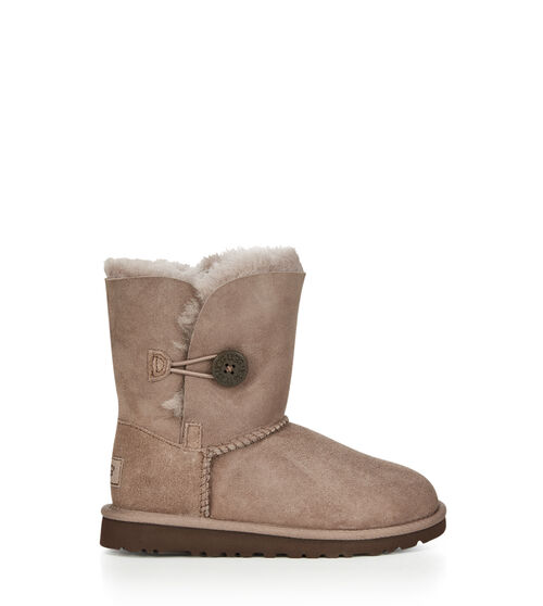UGG Bailey Button Kids Classic Boots Stormy Grey 8