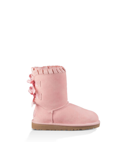 UGG Bailey Bow Ruffles Kids Classic Boots Baby Pink 5