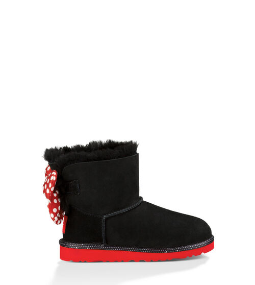 UGG Sweetie Bow Kids Classic Boots Black 8