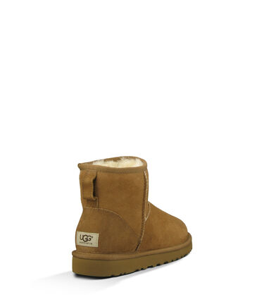 Women's Chestnut Classic Mini Boot Back View