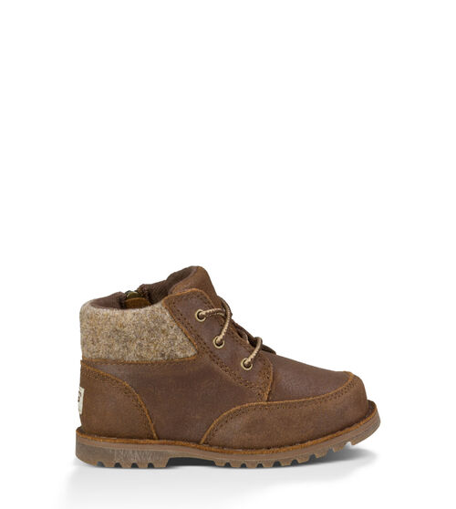 UGG Orin Wool Kids Lace Up Boots Chocolate 10