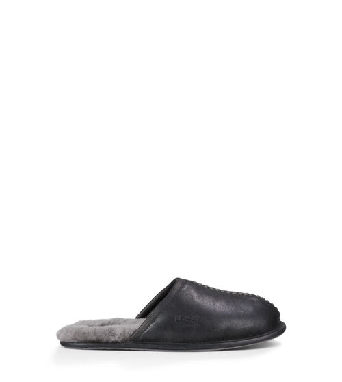 Men's Footwear UGG Scuff Deco Mens Slippers Black 12