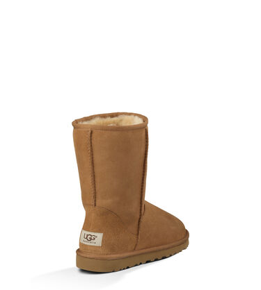 Women's Chestnut Classic Short Boot Back View