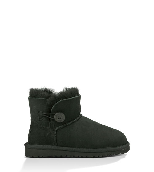 UGG K Mini Bailey Button Kids Boots Black 5