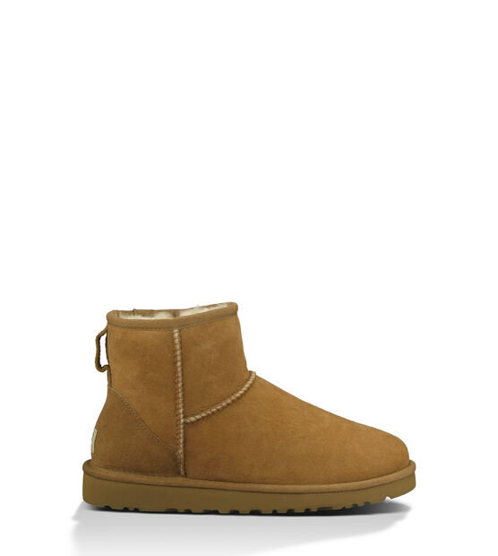 Women's Chestnut Classic Mini Boot Side View