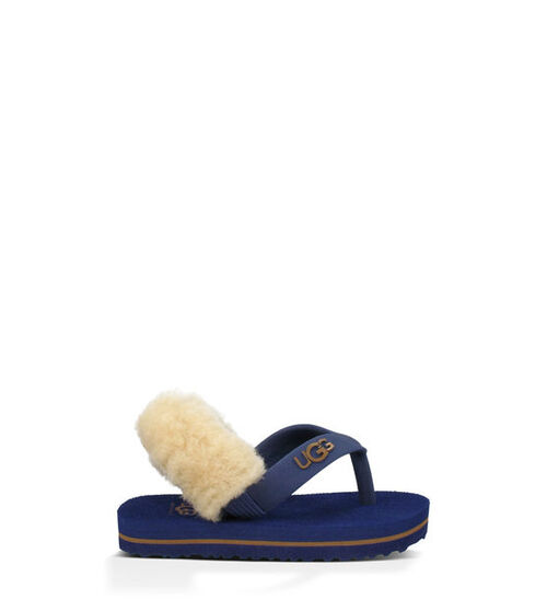 UGG Yia Yia Infants Flip Flops Medieval Blue/Chestnut Small (6-12 months)