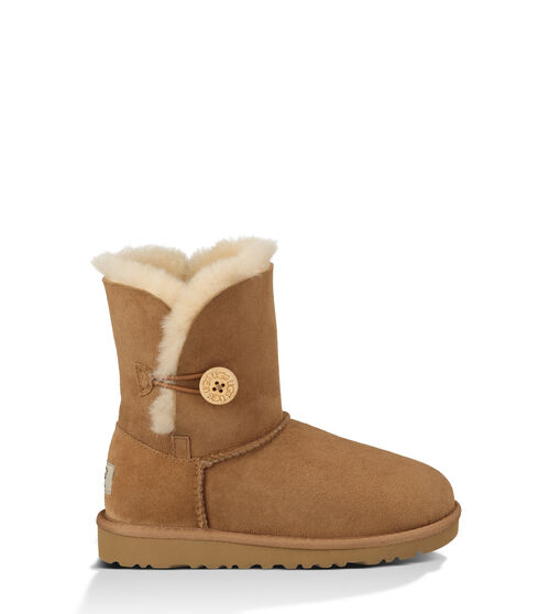 UGG Bailey Button Kids Classic Boots Chestnut 8