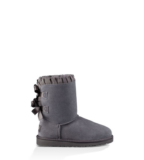 UGG Bailey Bow Ruffles Kids Classic Boots Nightfall 8